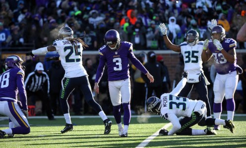 Blair Walsh kicked the Vikings out of the playoffs.
