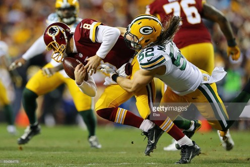 Kirk Cousins magical season comes to end at the hands of the Packers.  For all of Cousins record breaking team sacks, he never beat a team with a winning record.