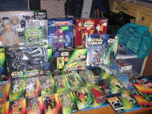 These toys are only a small part of my ever growing Star Wars obsession.