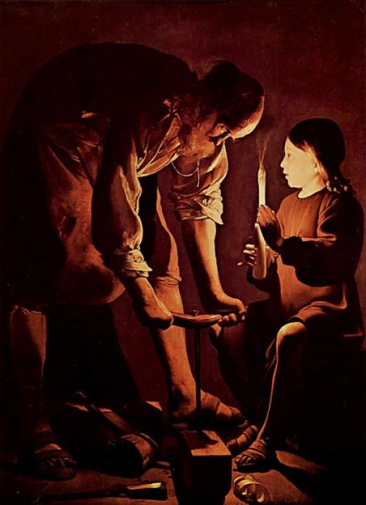 St. Joseph, the Carpenter. Georges de la Tour, The Louvre, Paris
