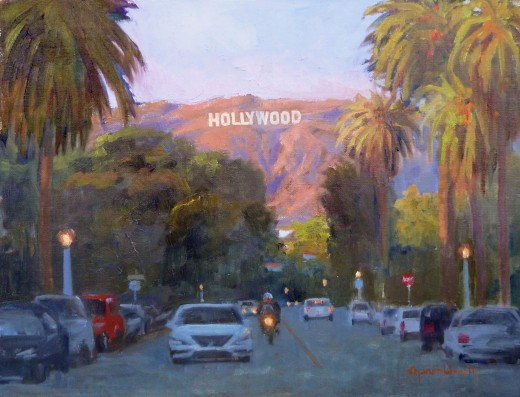 Hollywood Sunset by Sharon Weaver