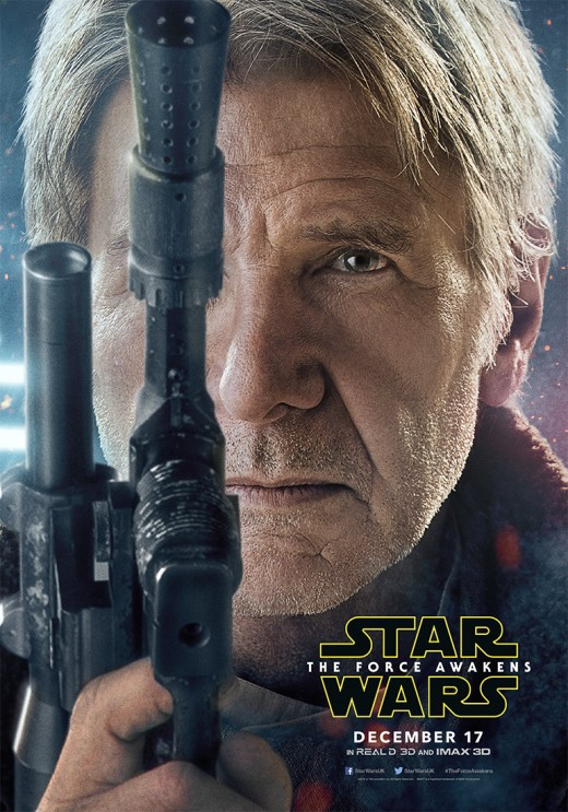 Official Star Wars The Force Awakens Han Solo portrait poster