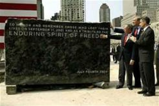 The hewn stone at ground zero