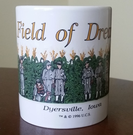Men come out of the cornfield when this coffee mug is exposed to heat! I'm surprised it still works after all these years, but it does!