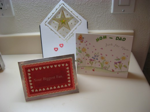 More samples of my cards that I created for my family.