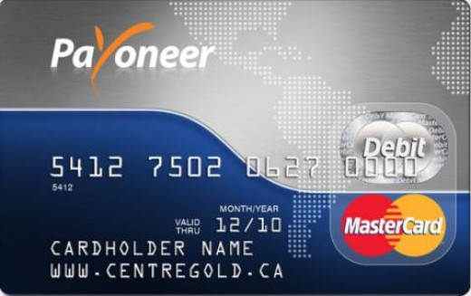 Payoneer card which is used to withdraw money from ATM machine. It is master card used by many who engage in internet business.