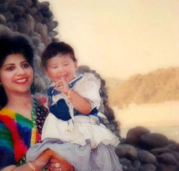 What a beautiful smile you have! I was a year old perhaps.