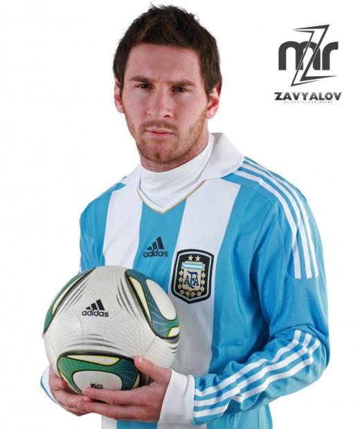 Messi In Argentina Kit.