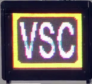 The virtual safety car sign