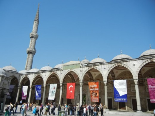 Courtyard Of Blue Mosque.