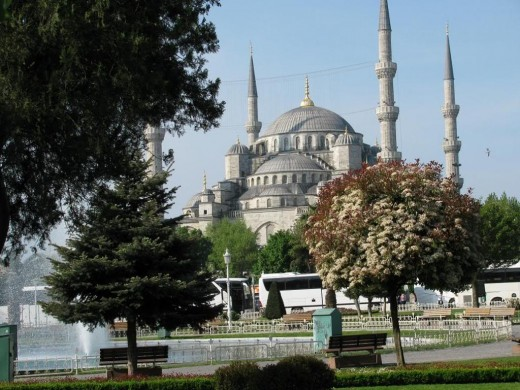 Distant View Of The Blue Mosque.
