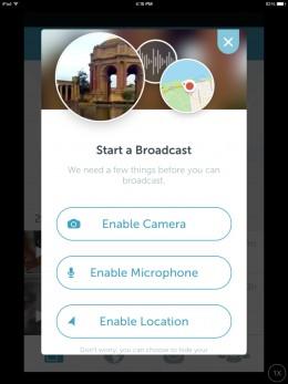 Periscope Start a Broadcast