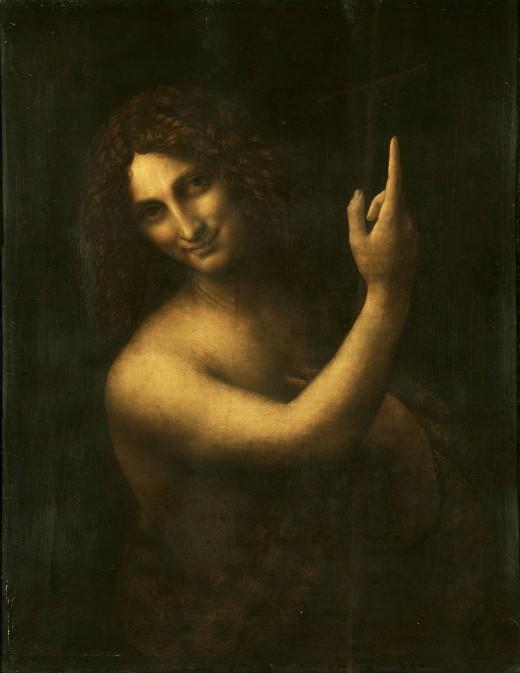 Artist Leonardo da Vinci (1452–1519)  Author:Leonardo da Vinci  TitleSaint John the Baptist   Datefrom 1513 until 1516 Mediumoil on panel