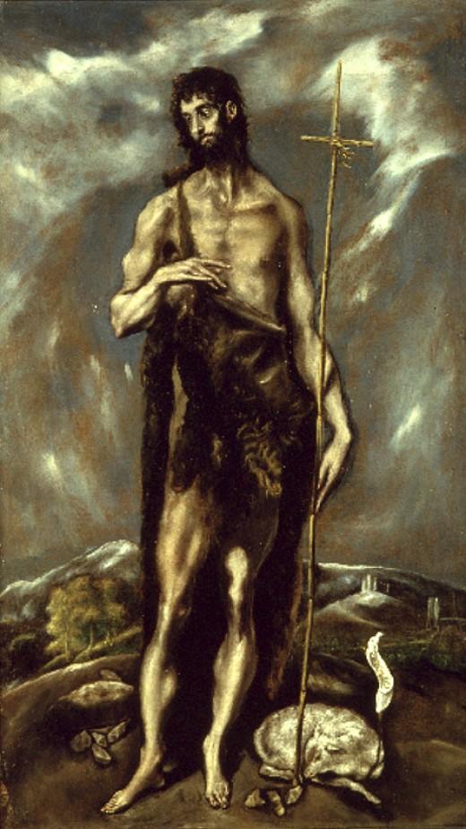 Artist El Greco (1541–1614)   TitleSaint John the Baptist Datecirca 1600 - 1605 Mediumcolor on canvas Current location Museu de Belles Arts de València