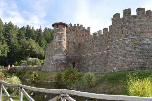 Exterior of Castello di Amorosa