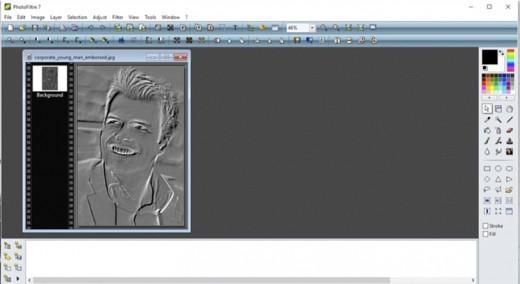 Screenshot in Photofiltre