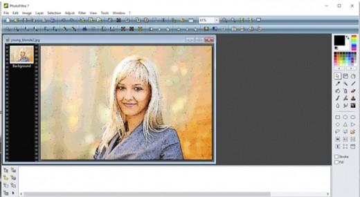 Screen shot in photo editor