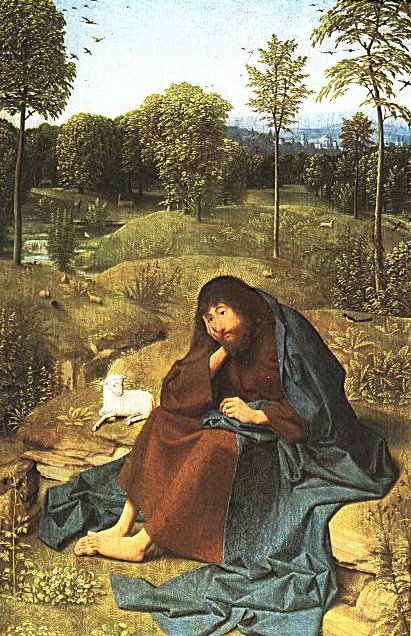 Artist Geertgen tot Sint Jans (circa 1460-circa 1488)  Deutsch: Johannes der Täufer English: John the Baptist in the Wilderness