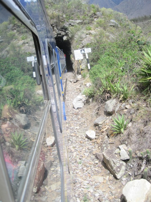 One of the many tunnels we went through on the way to Machu Picchu.