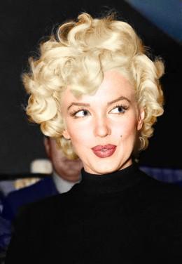 Colorized portrait of Marilyn Monroe.