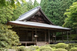A Japanese temple in the forest