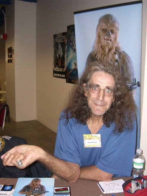 Peter Mayhew today.