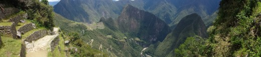 A view of Machu Piccu from the Gateway to the Sun