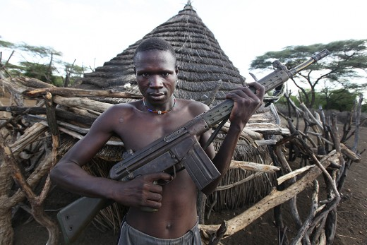 A South Sudan combatant with G3 rifle