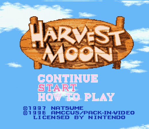 Harvest Moon Title Screen