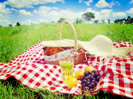Why not take a picnic to the park, or on a hike? It's free, and you get to be out in nature, which is relaxing and good for the soul.