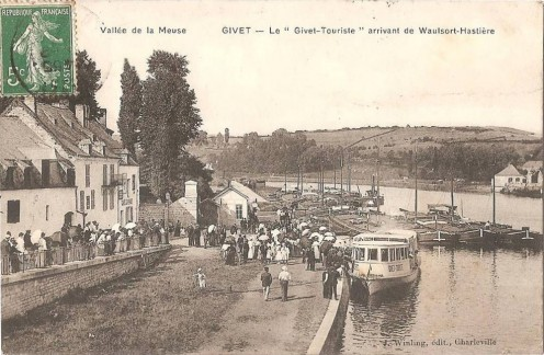 The Givet-Touriste, at Givet, coming from Hastière (Belgium), before 1914