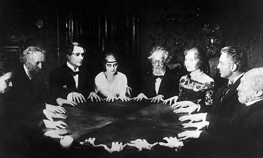 Are spiritualists contacting the dead or a record of the past?