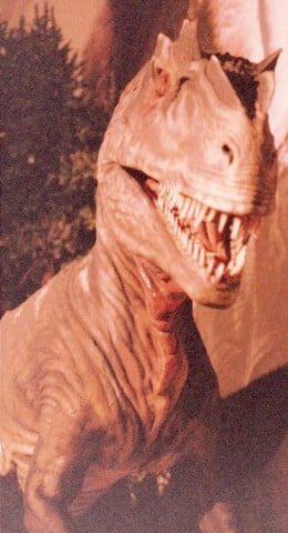 An anamatronic dinosaur in the Dinosaurs Alive and in Color exhibit at the National Museum of Natural History, Washington , DC, April 1990.