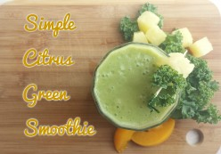 Simple Citrus Green Smoothie Recipe