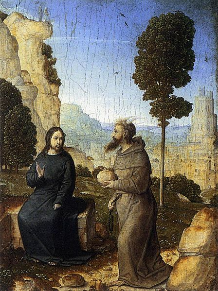 Artist Juan de Flandes (1460–1519)   TitleThe Temptation of Christ Datecirca 1500 Mediumoil on panel DimensionsHeight: 21 cm (8.3 in). Width: 16 cm (6.3 in). Current location National Gallery