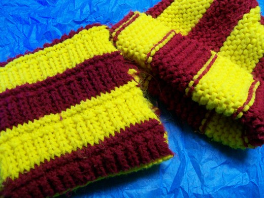 Concordia College colors - maroon and gold, or in this case maroon and yellow gold.