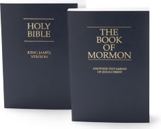 The book of Mormon is thought to come to Joseph Smith on gold plates and is considered to be a third testament by Mormons
