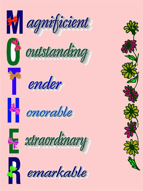 Beautiful Mother Saying