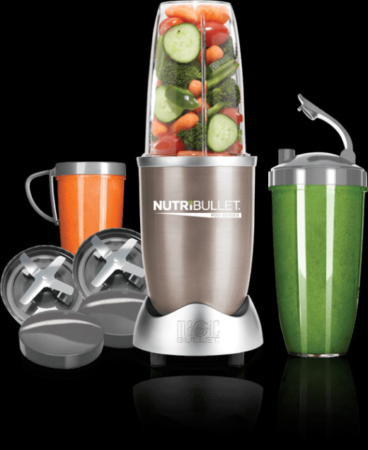 NutriBullet and accompanying accessories