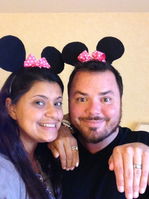 We make Minnie Ears for our niece's birthday and fly from San Francisco for the party. Best Aunt & Uncle