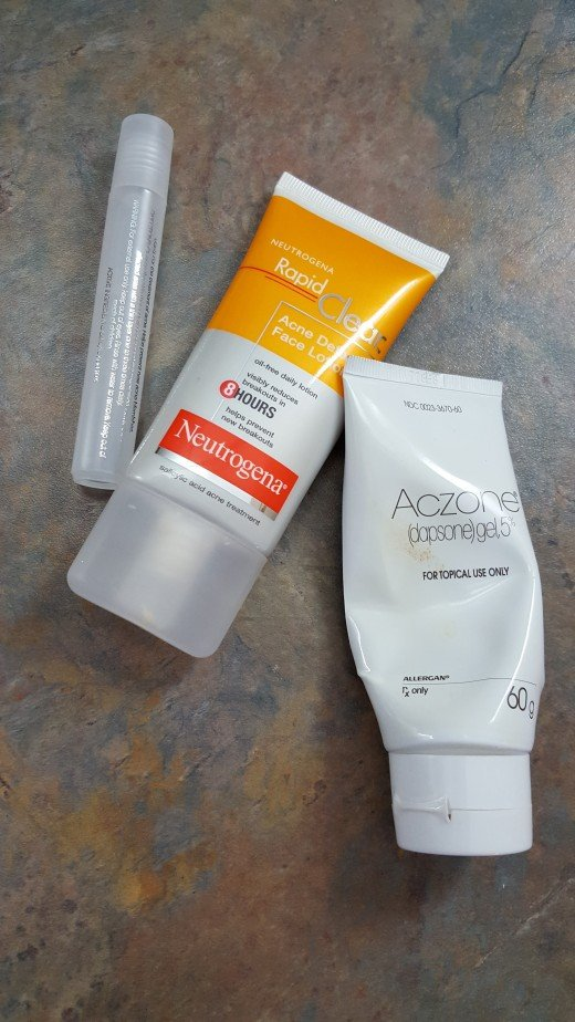Various acne medications
