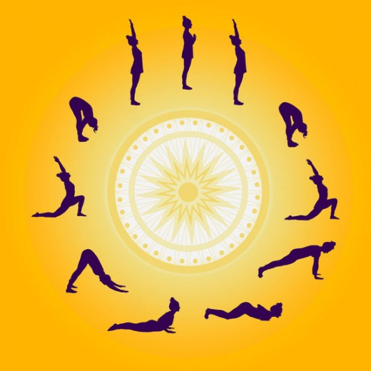 The Surya Namaskar, or Sun-Salutation.