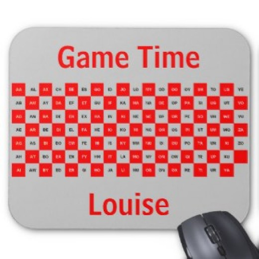 Customize your own 2 letter word mousepad