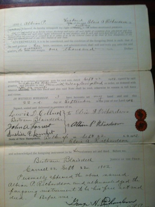 a deed transaction done because of some difficulties