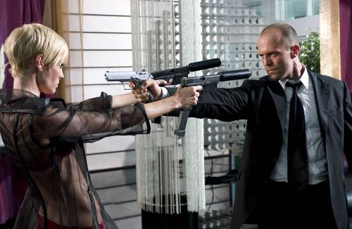 "Statham (right) squares off against Nauta (left) in ""Transporter 2"""
