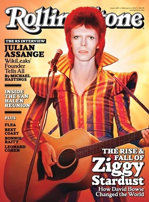 David Bowie as Ziggy Stardust, The Rollingstone cover 2012.