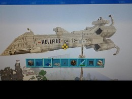 This ship can be boarded and has working cannon, hanger bays and much more.