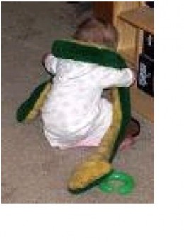 """""""Laurel the Stuffed Snake"""" looks like the same sort of stuffed snake toy we used for this particular ScareEmSayBoo game."""