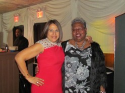 Sonia poses with Diana Quiles, who also attend Manhattan Midtown Congregation.