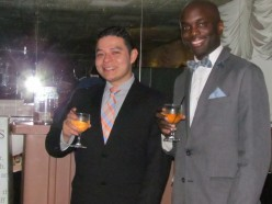 Joshua and Michael enjoy a refreshing drink. They attend the Bedford Spanish Congregation of Jehovah's Witnesses.